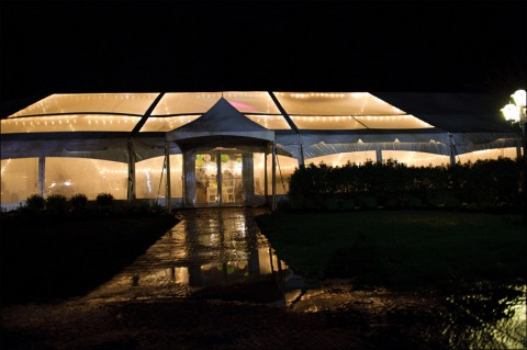 Make sure rain does not ruin your marquee wedding