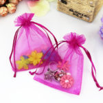 Try to be an eco-friendly – use your organza bags in a creative way